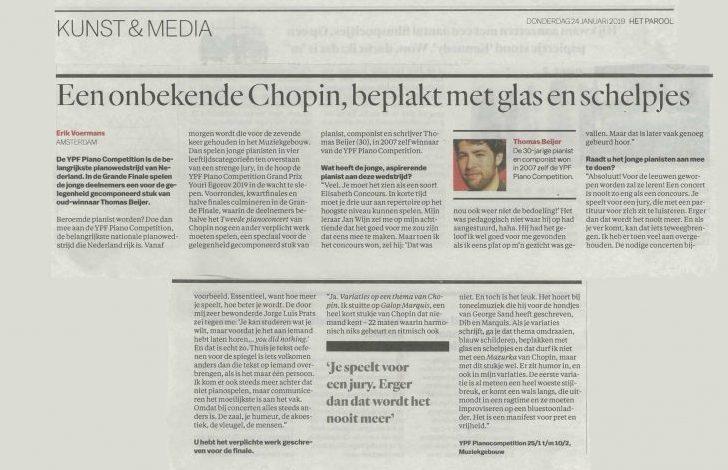 Interview met Thomas Beijer (Het Parool)